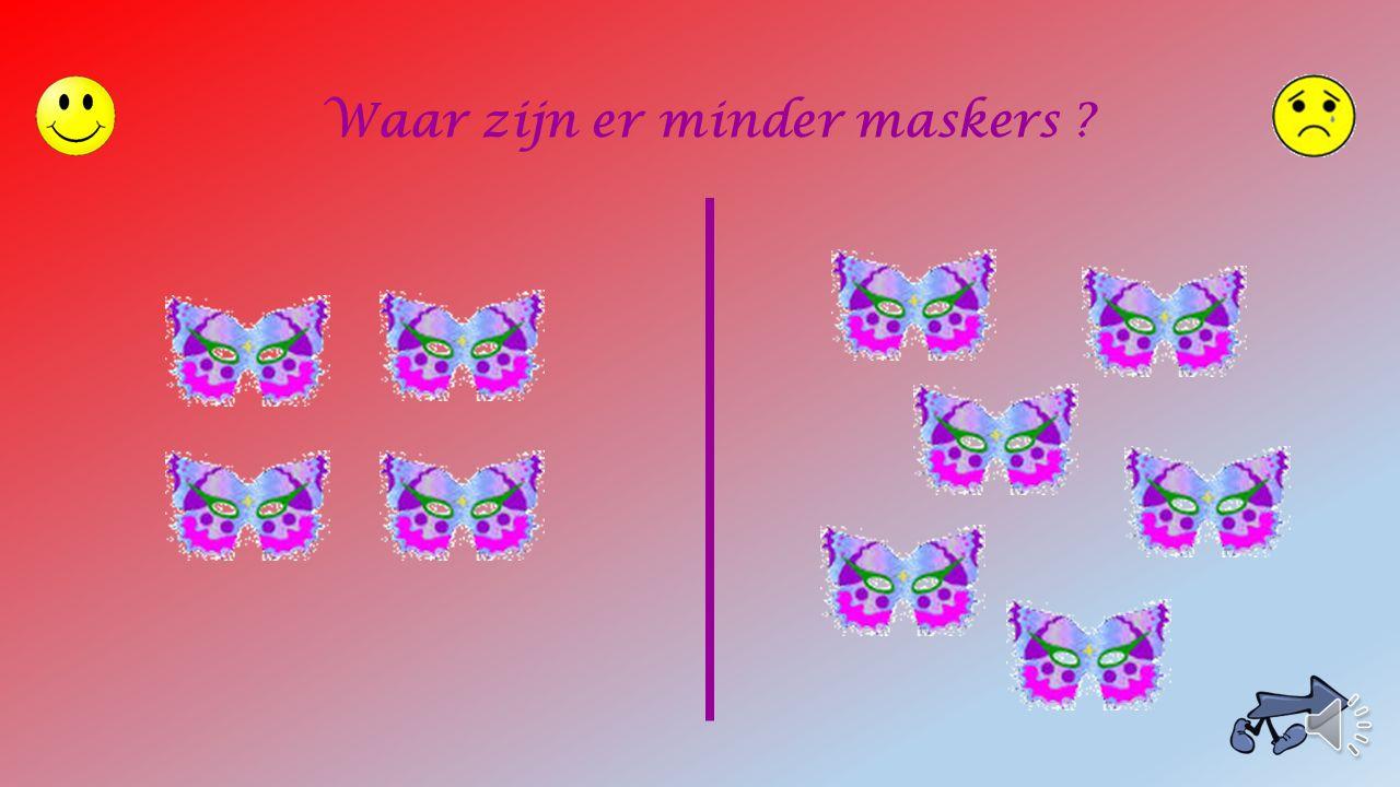 Waar zijn er minder maskers ?