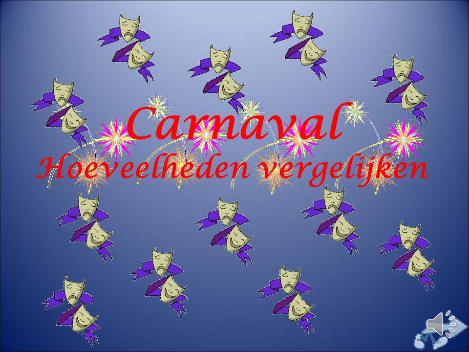 Carnaval Hoeveelheden vergelijken