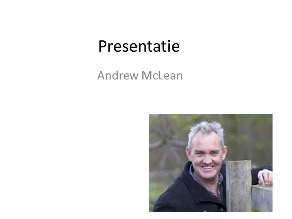 Presentatie Andrew McLean