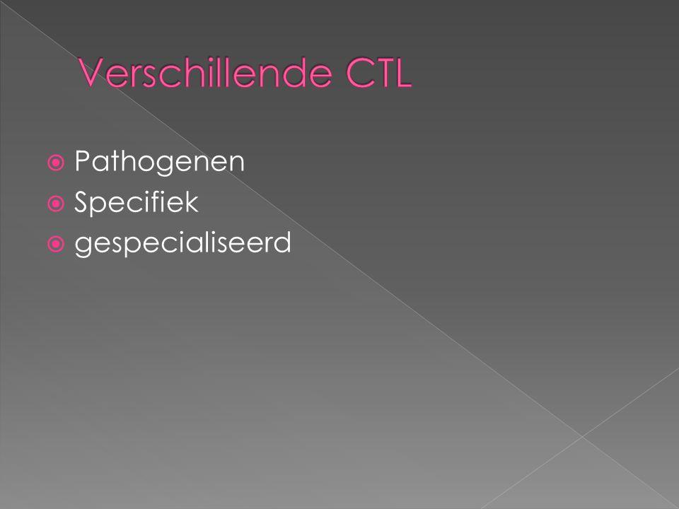  Pathogenen  Specifiek  gespecialiseerd