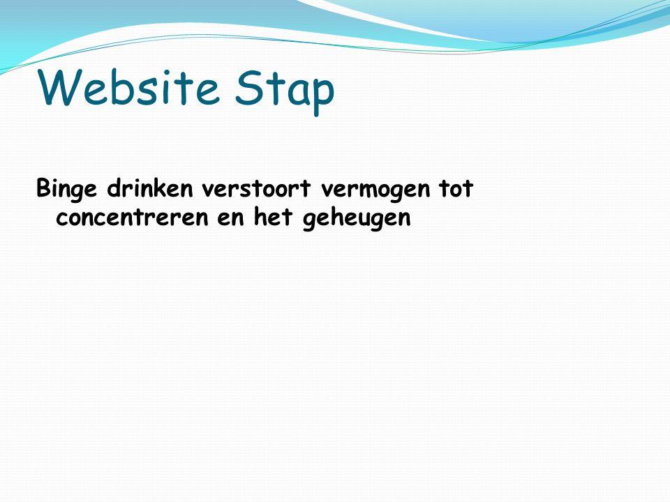 Website Stap Binge drinken verstoort vermogen tot concentreren en het geheugen