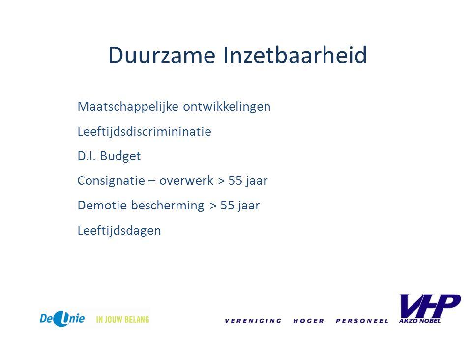 Duurzame Inzetbaarheid Maatschappelijke ontwikkelingen Leeftijdsdiscrimininatie D.I.