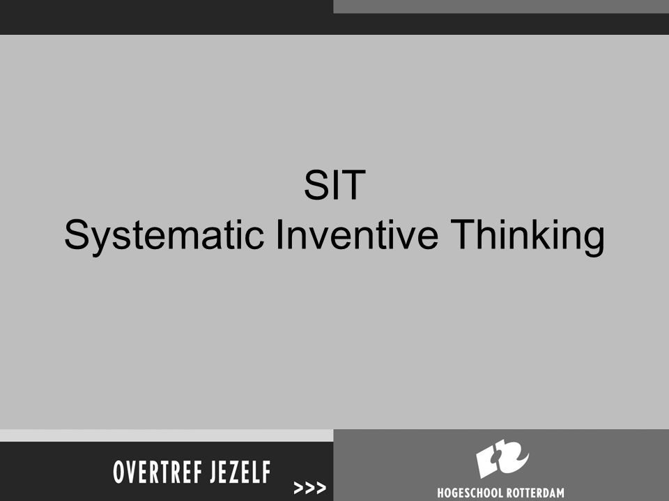 SIT Systematic Inventive Thinking