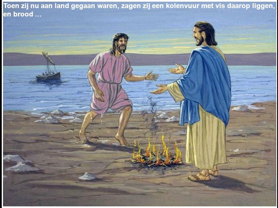 Jezus dan kwam en nam het brood en gaf het hun, en de vis eveneens…