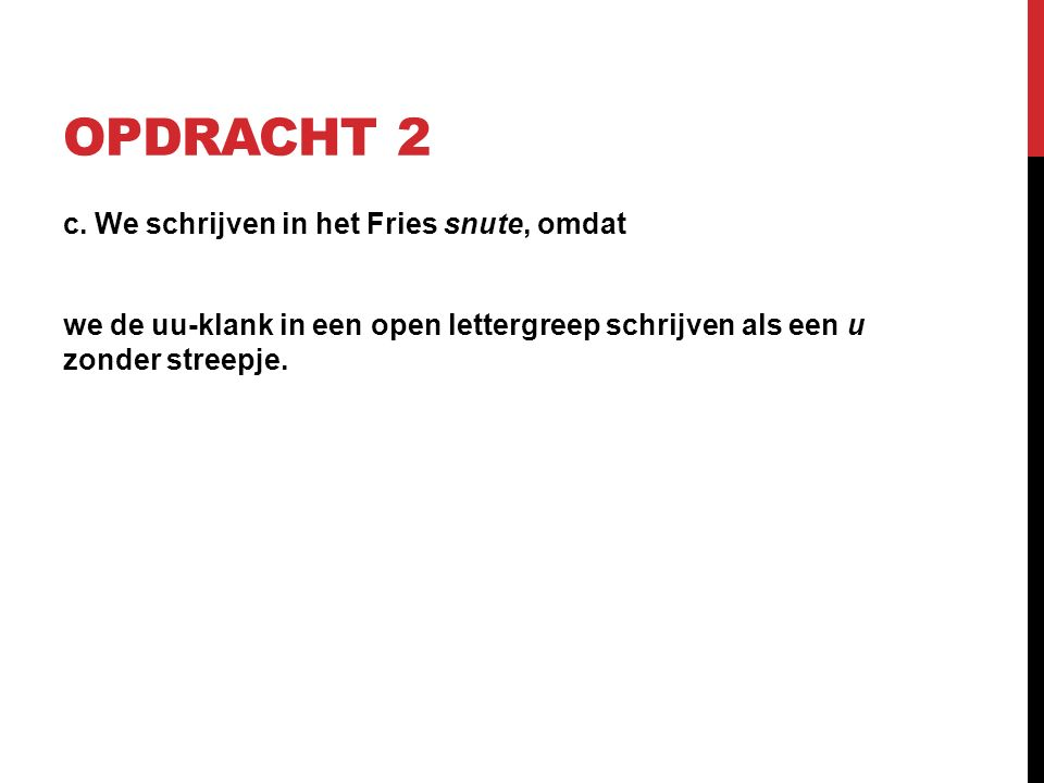 OPDRACHT 2 c.