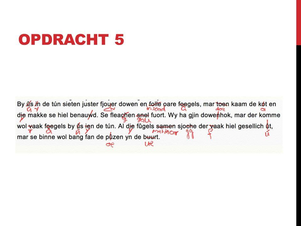 OPDRACHT 5