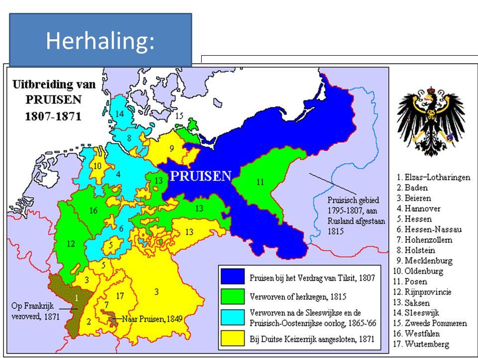 Leg uit hoe Von Bismarck heeft gezorgd voor de vorming van de Duitse natiestaat.