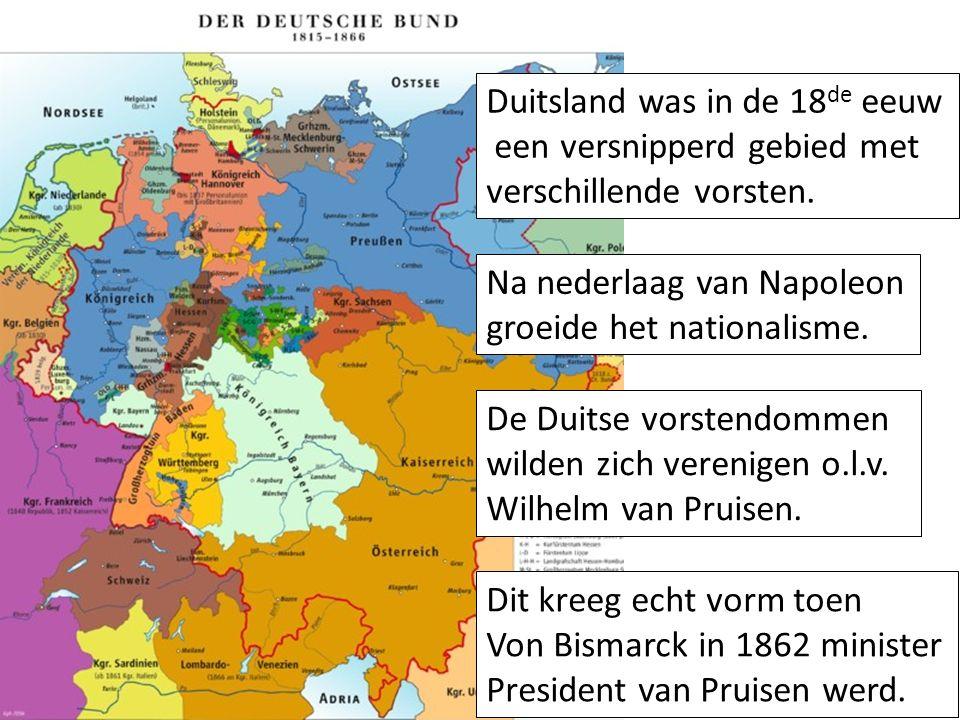 Na nederlaag van Napoleon groeide het nationalisme.