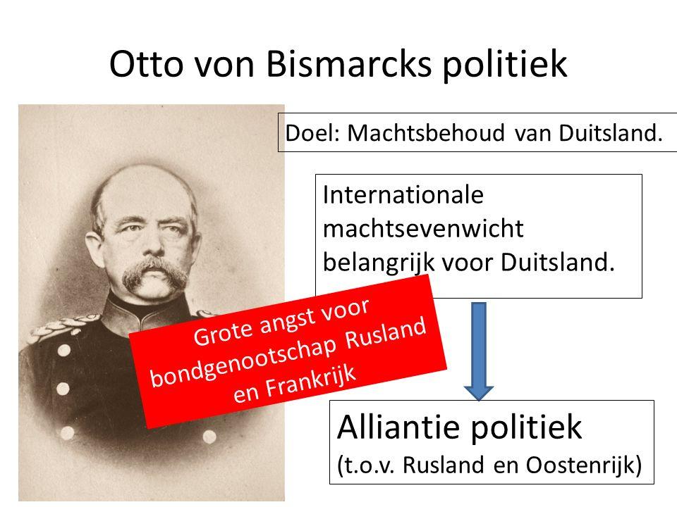 Otto von Bismarcks politiek Internationale machtsevenwicht belangrijk voor Duitsland.