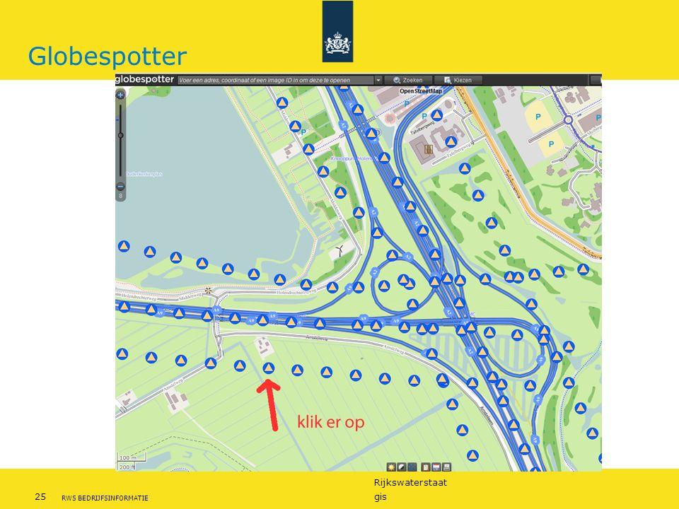 Rijkswaterstaat 25gis RWS BEDRIJFSINFORMATIE Globespotter