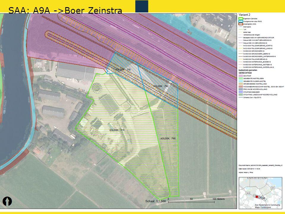 Rijkswaterstaat 28gis RWS BEDRIJFSINFORMATIE SAA: A9A ->Boer Zeinstra