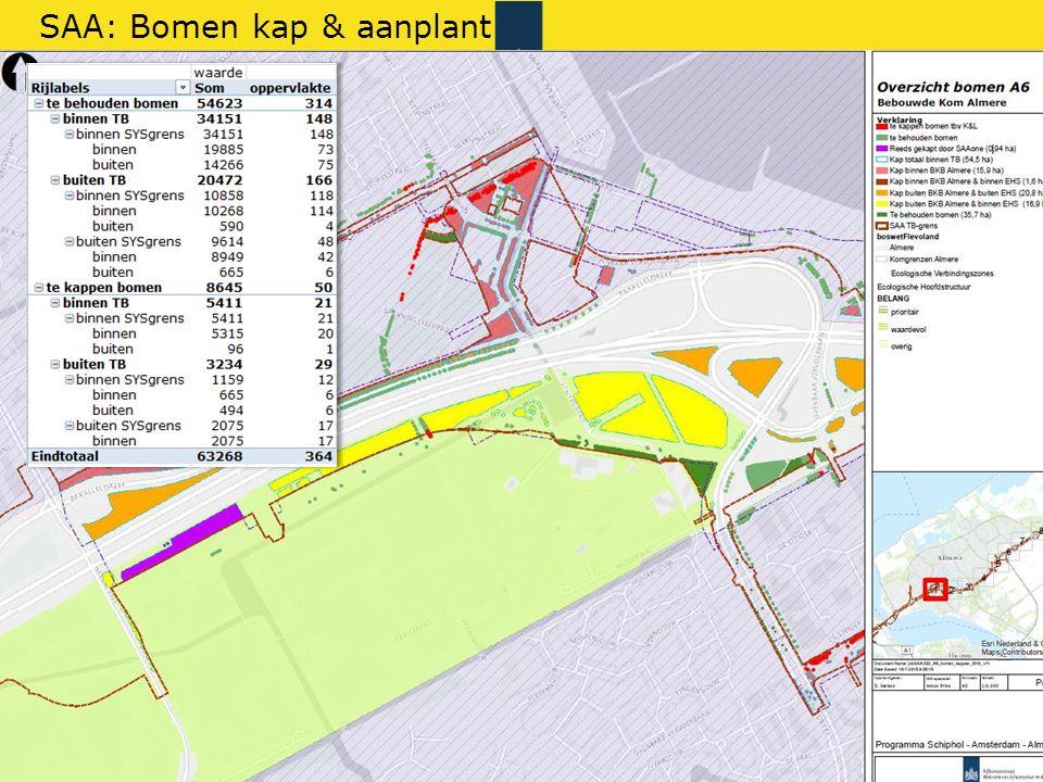 Rijkswaterstaat 29gis RWS BEDRIJFSINFORMATIE SAA: Bomen kap & aanplant