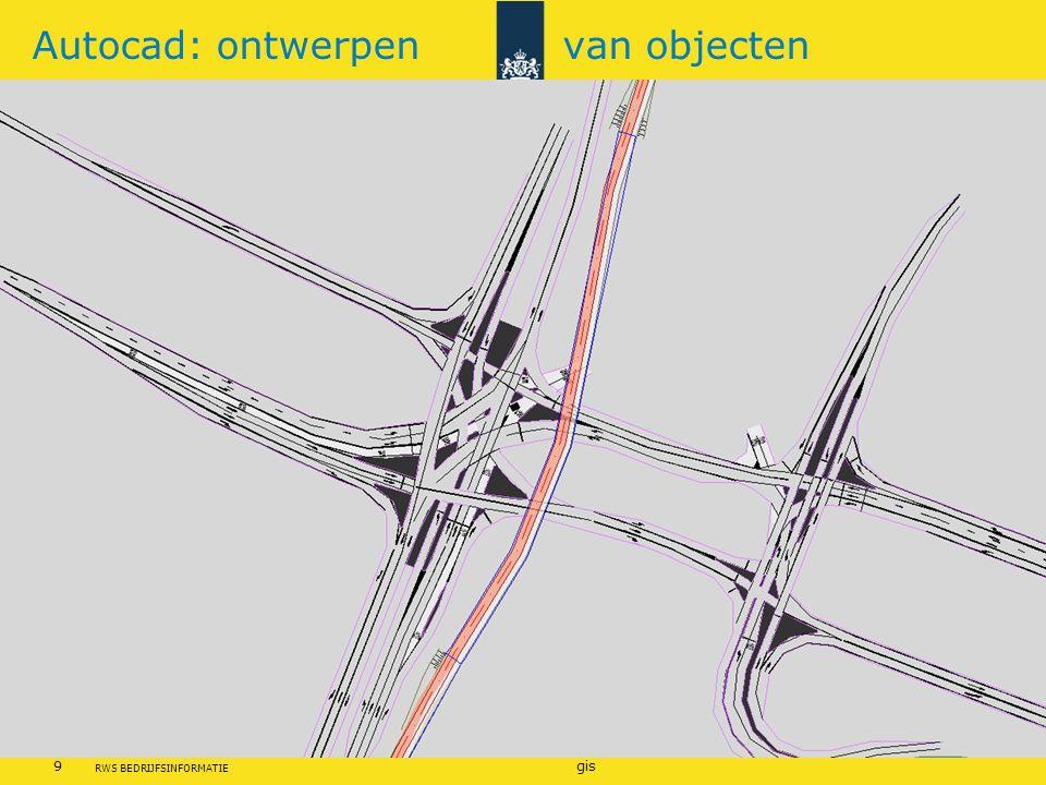 Rijkswaterstaat 9gis RWS BEDRIJFSINFORMATIE Autocad: ontwerpen van objecten