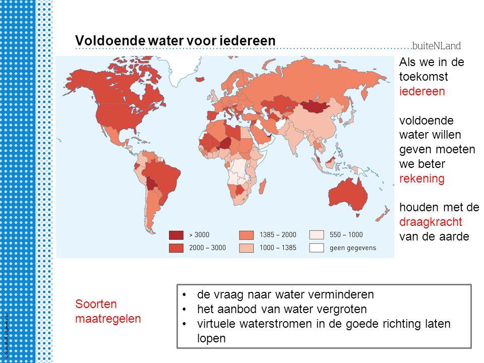Voldoende water voor iedereen Als we in de toekomst iedereen voldoende water willen geven moeten we beter rekening houden met de draagkracht van de aa