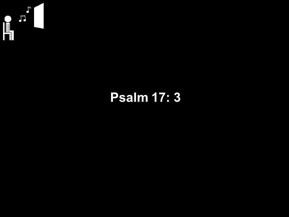 Psalm 17: 3