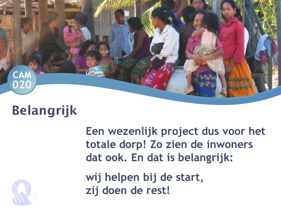 Belangrijk Een wezenlijk project dus voor het totale dorp! Zo zien de inwoners dat ook. En dat is belangrijk: wij helpen bij de start, zij doen de res