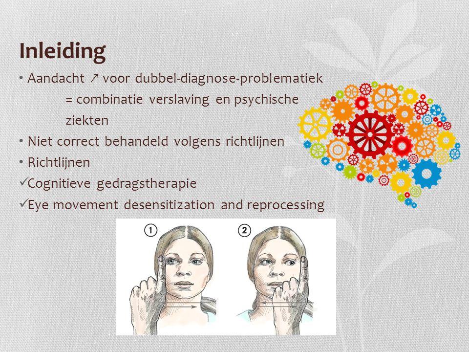 Inleiding Aandacht ↗ voor dubbel-diagnose-problematiek = combinatie verslaving en psychische ziekten Niet correct behandeld volgens richtlijnen Richtl
