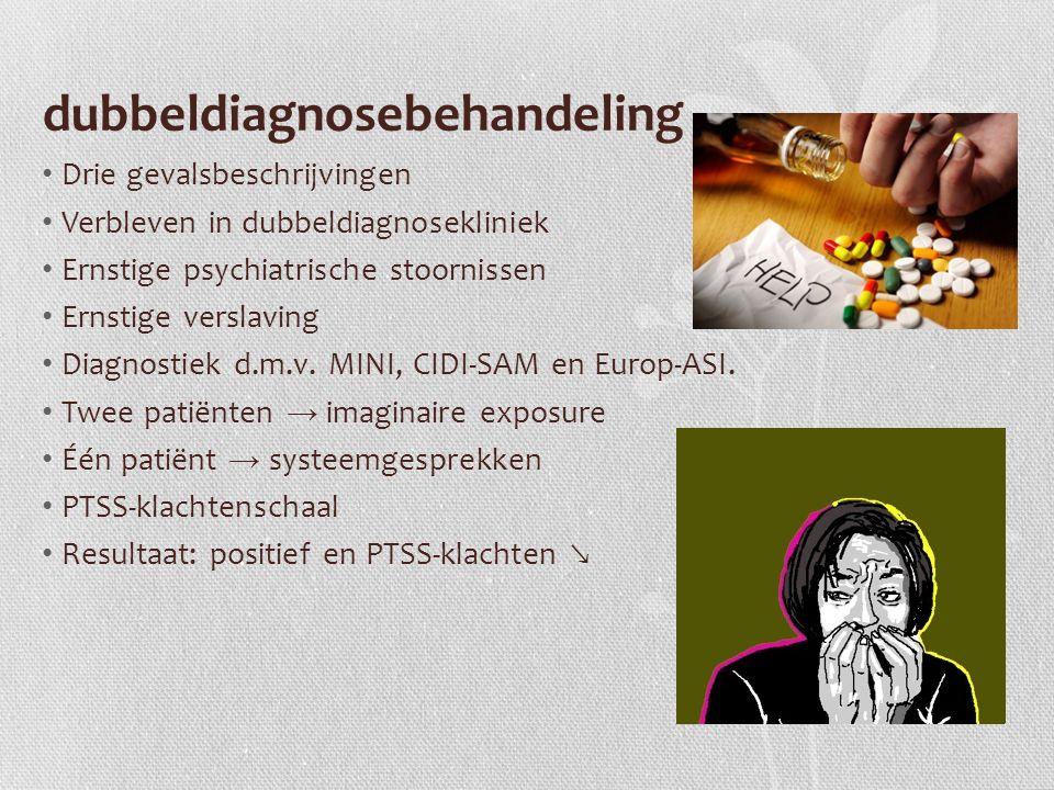 dubbeldiagnosebehandeling Drie gevalsbeschrijvingen Verbleven in dubbeldiagnosekliniek Ernstige psychiatrische stoornissen Ernstige verslaving Diagnostiek d.m.v.