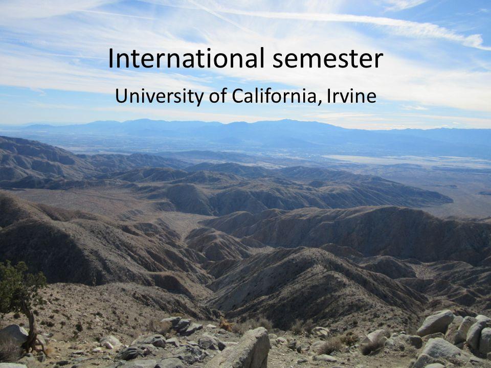 International semester University of California, Irvine