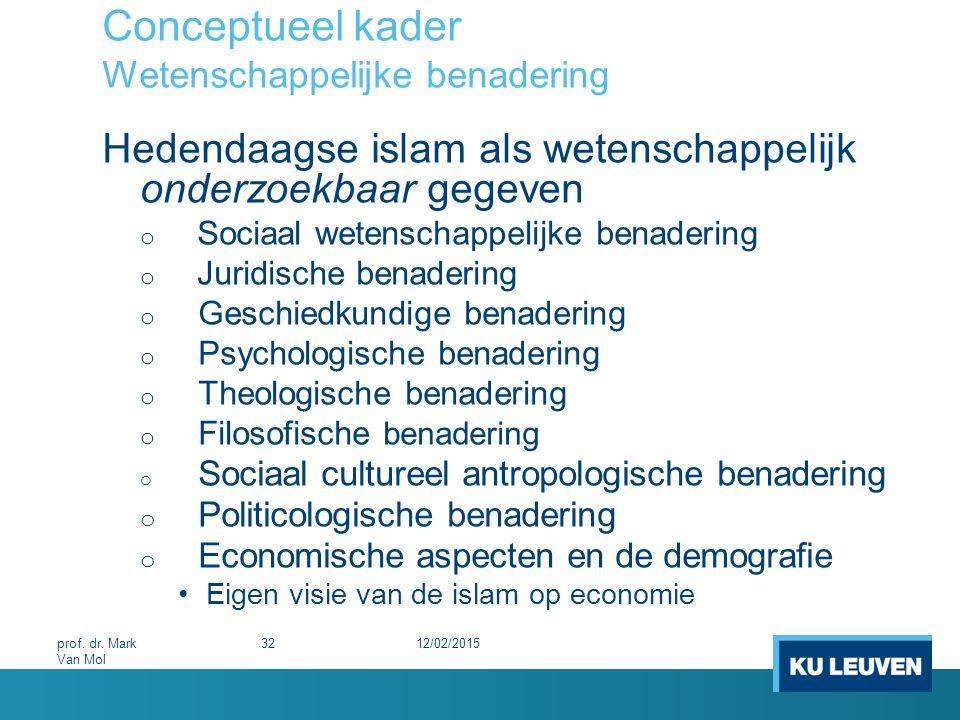 Conceptueel kader Wetenschappelijke benadering Hedendaagse islam als wetenschappelijk onderzoekbaar gegeven o Sociaal wetenschappelijke benadering o J