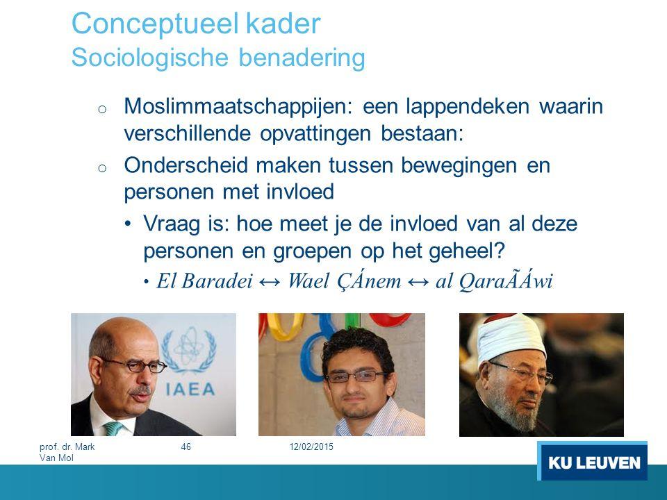 Conceptueel kader Sociologische benadering o Moslimmaatschappijen: een lappendeken waarin verschillende opvattingen bestaan: o Onderscheid maken tusse