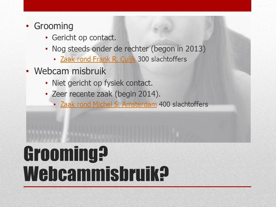 Webcammisbruik. Grooming Gericht op contact.