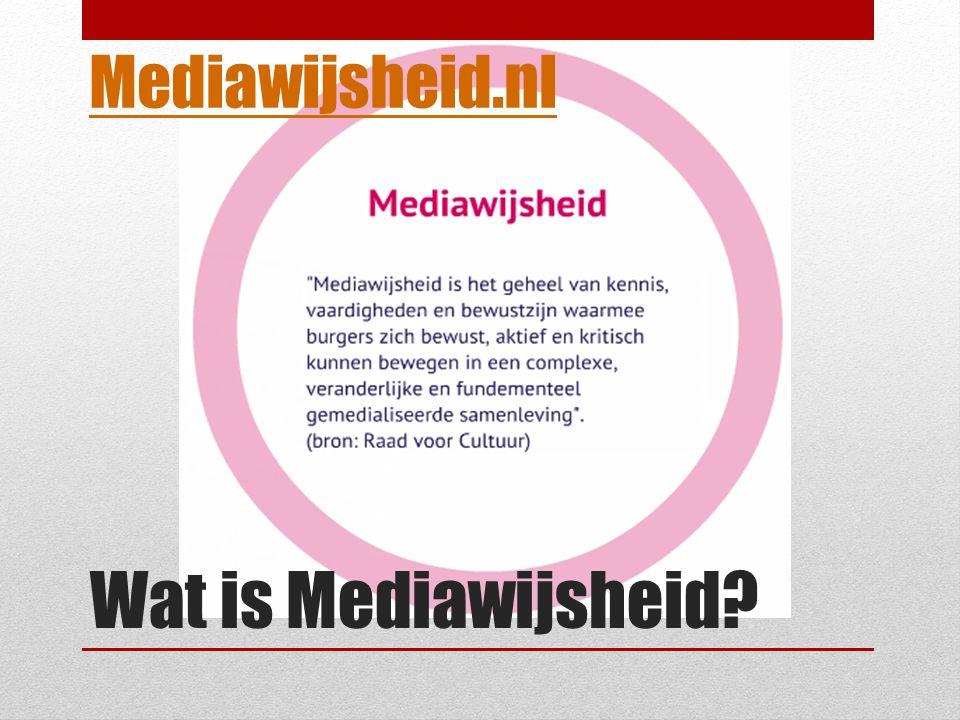 Wat is Mediawijsheid Mediawijsheid.nl