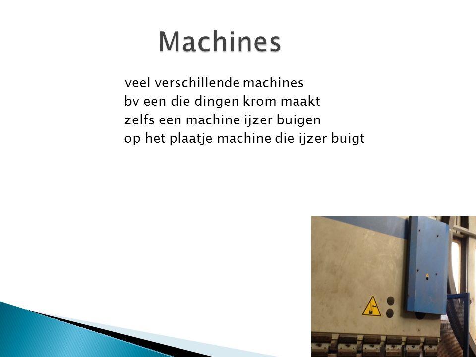 veel verschillende machines bv een die dingen krom maakt zelfs een machine ijzer buigen op het plaatje machine die ijzer buigt