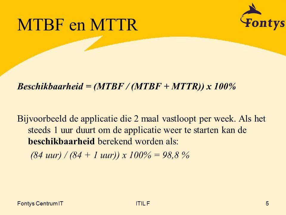 Fontys Centrum ITITIL F16 =alternatief Availability Management Component Failure Impact Analyse (2)