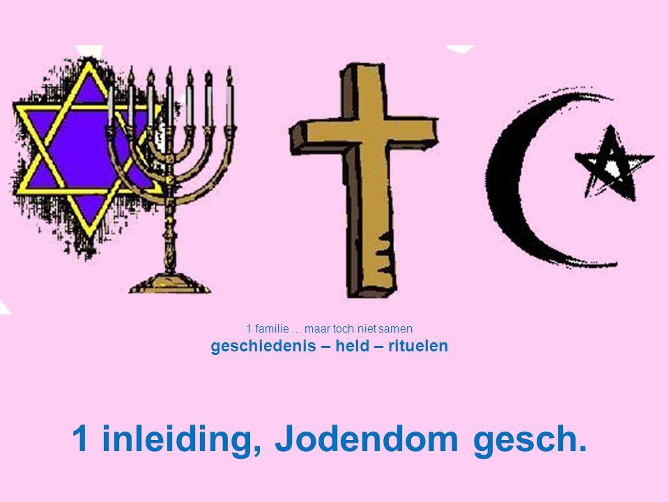 1 familie … maar toch niet samen geschiedenis – held – rituelen 1 inleiding, Jodendom gesch.