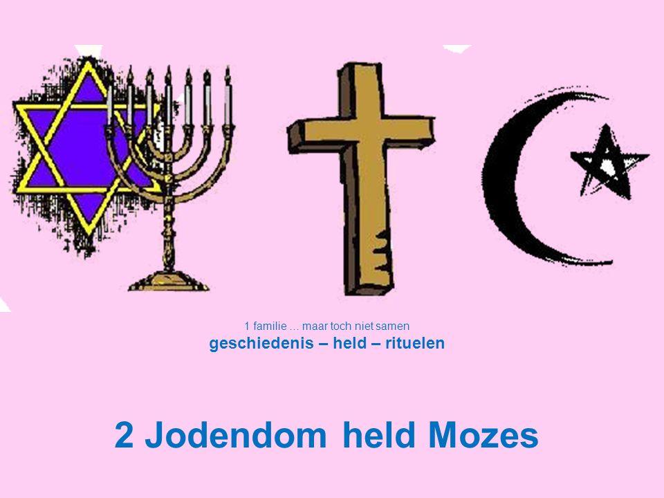 1 familie … maar toch niet samen geschiedenis – held – rituelen 2 Jodendom held Mozes