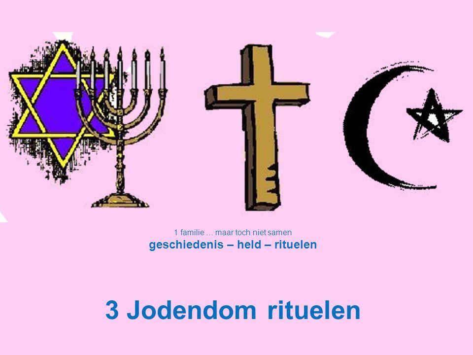 1 familie … maar toch niet samen geschiedenis – held – rituelen 3 Jodendom rituelen