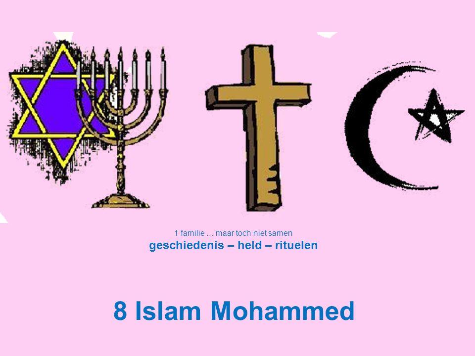 1 familie … maar toch niet samen geschiedenis – held – rituelen 8 Islam Mohammed
