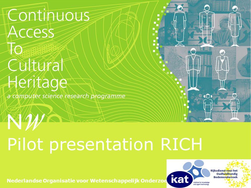 Nederlandse Organisatie voor Wetenschappelijk Onderzoek Pilot presentation RICH