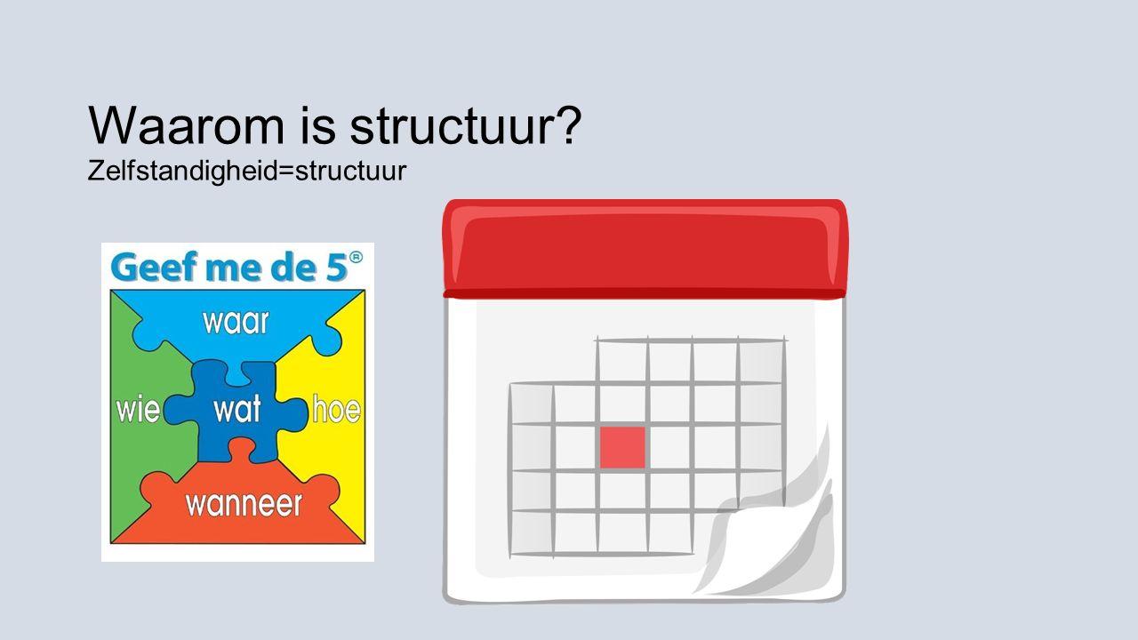 Waarom is structuur? Zelfstandigheid=structuur