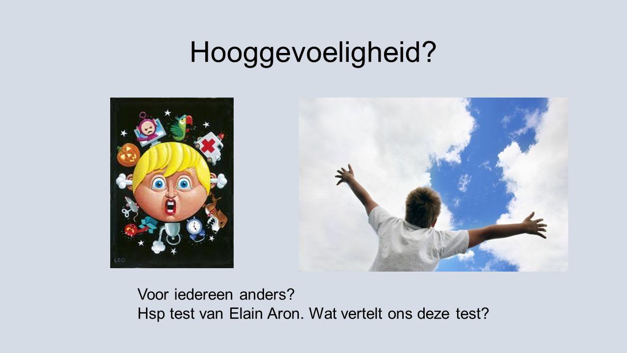 Hooggevoeligheid? Voor iedereen anders? Hsp test van Elain Aron. Wat vertelt ons deze test?
