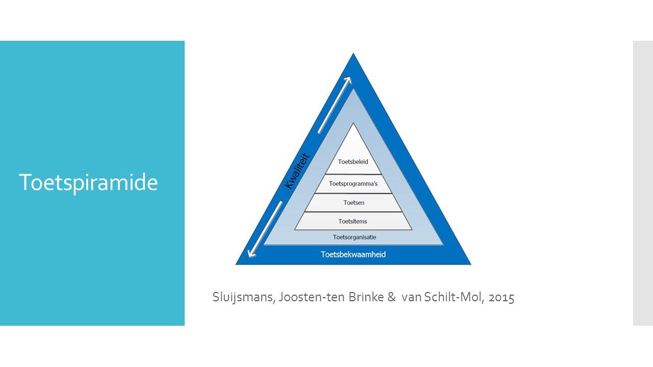 Toetspiramide Sluijsmans, Joosten-ten Brinke & van Schilt-Mol, 2015