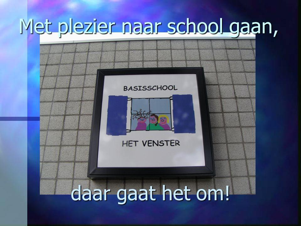 Met plezier naar school gaan, daar gaat het om!