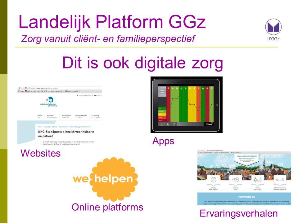Landelijk Platform GGz Zorg vanuit cliënt- en familieperspectief
