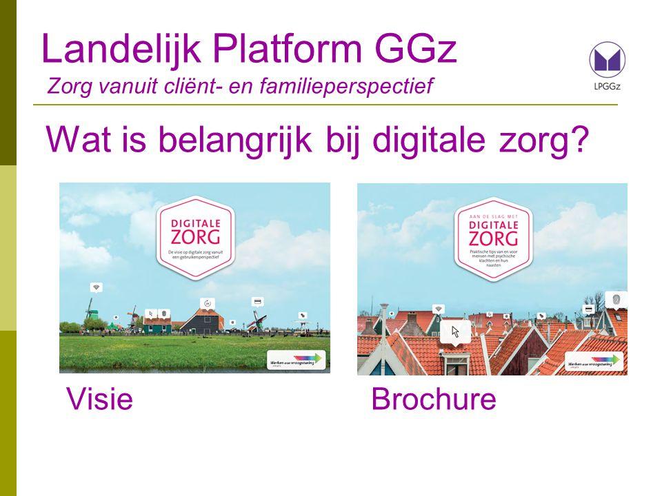 Landelijk Platform GGz Zorg vanuit cliënt- en familieperspectief Wat levert het op.