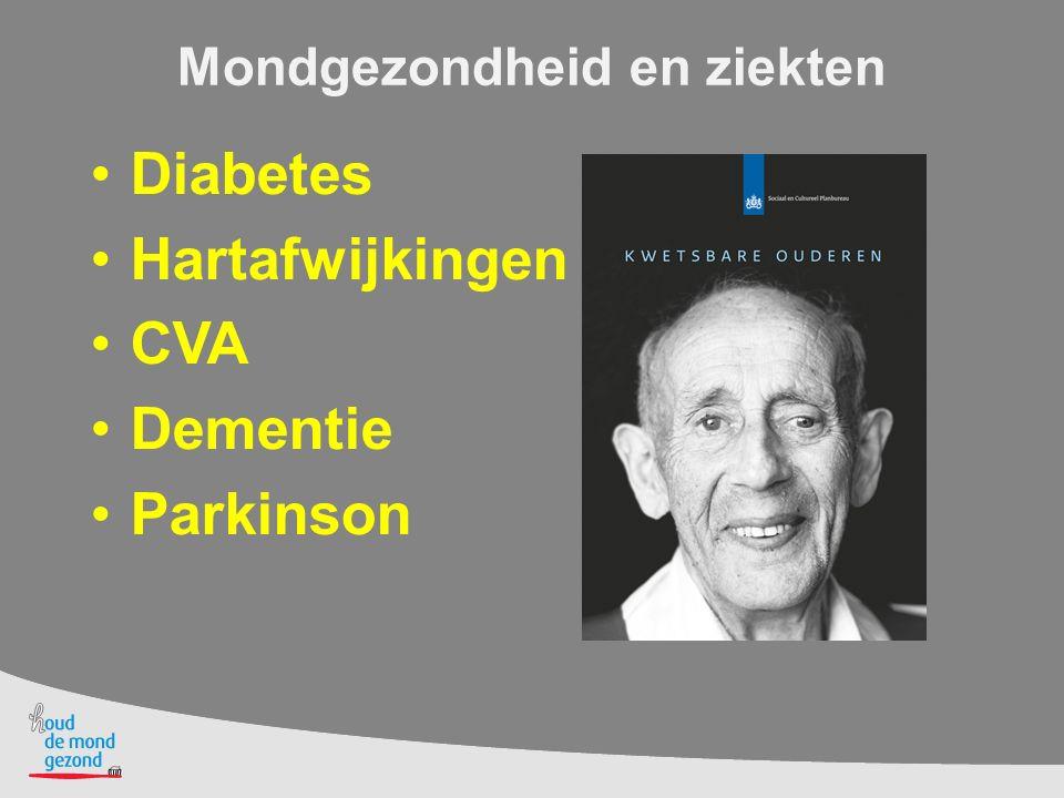 Mondgezondheid en ziekten Diabetes Hartafwijkingen CVA Dementie Parkinson