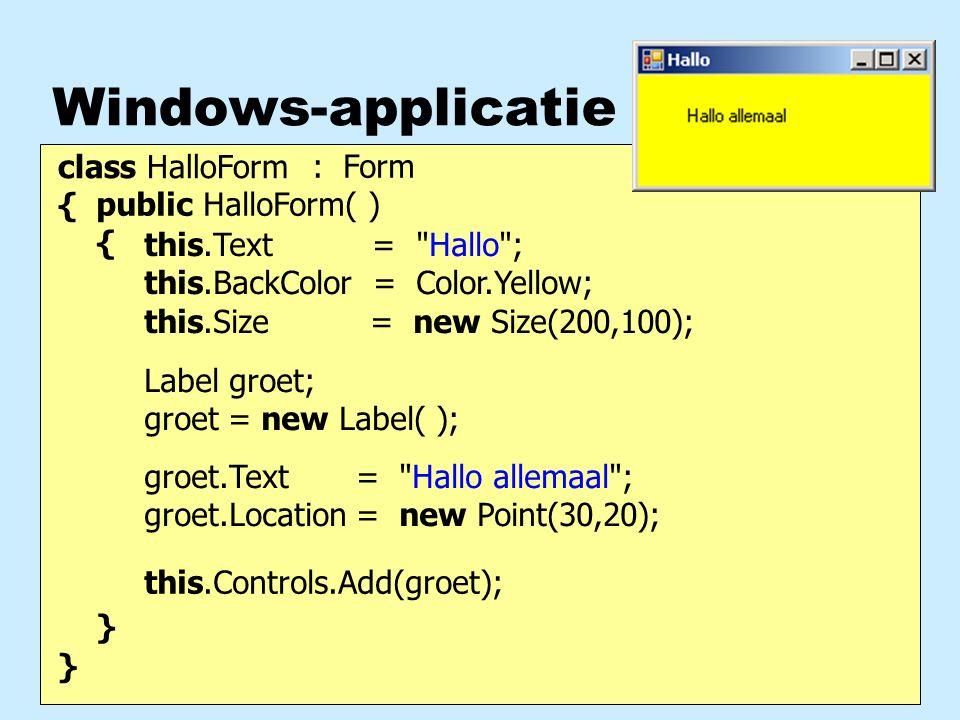 Communicatie met methoden nParameters : aanroeper geeft waarde door aan de methode nMethode-resultaat : methode geeft waarde terug aan de aanroeper net zoals een wiskundige functie