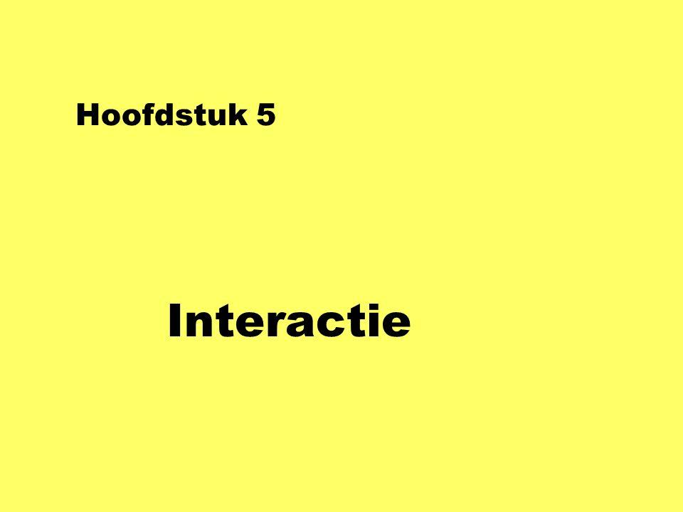 Hoofdstuk 5 Interactie