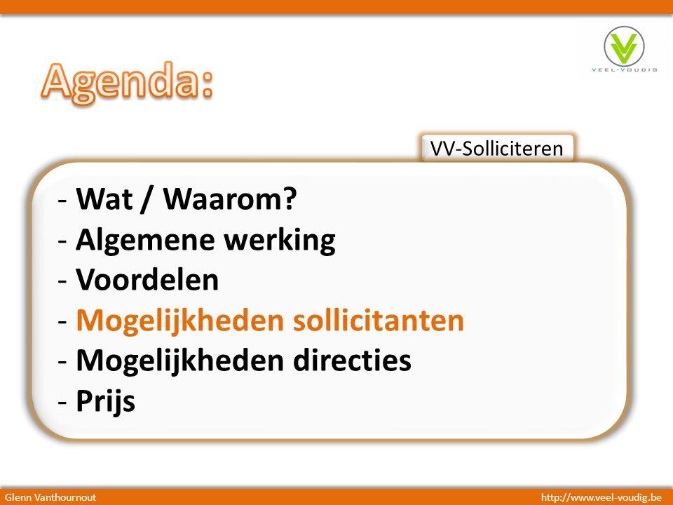 VV-Solliciteren - Wat / Waarom.
