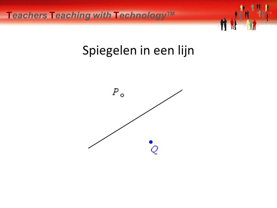De parabool als spiegel Teachers Teaching with Technology™ Opdracht Spiegel