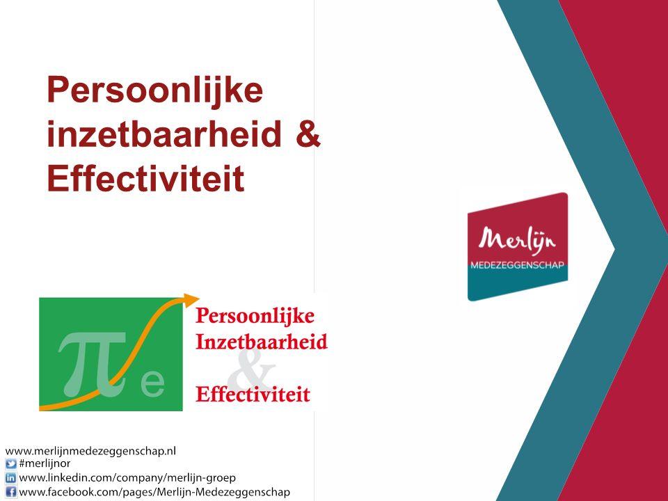 Persoonlijke inzetbaarheid & Effectiviteit