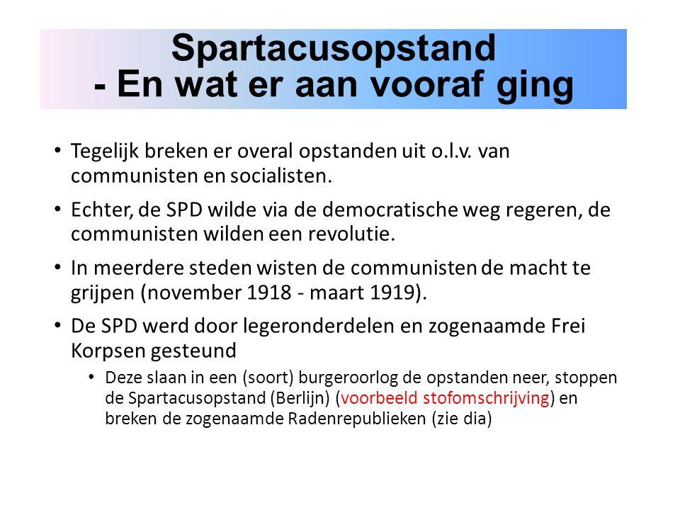 Tegelijk breken er overal opstanden uit o.l.v. van communisten en socialisten.