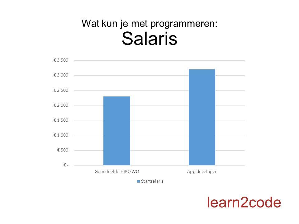 Wat kun je met programmeren: Salaris learn2code