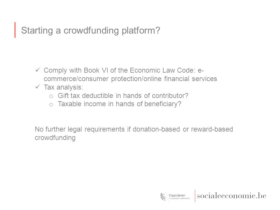 Starting a crowdfunding platform.