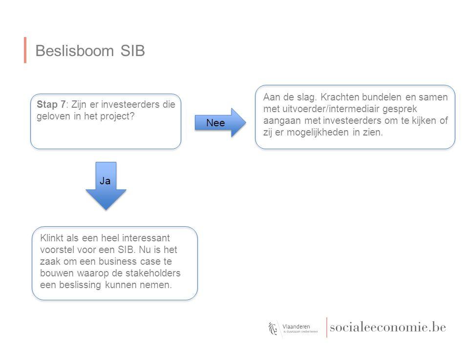 Beslisboom SIB Stap 7: Zijn er investeerders die geloven in het project.